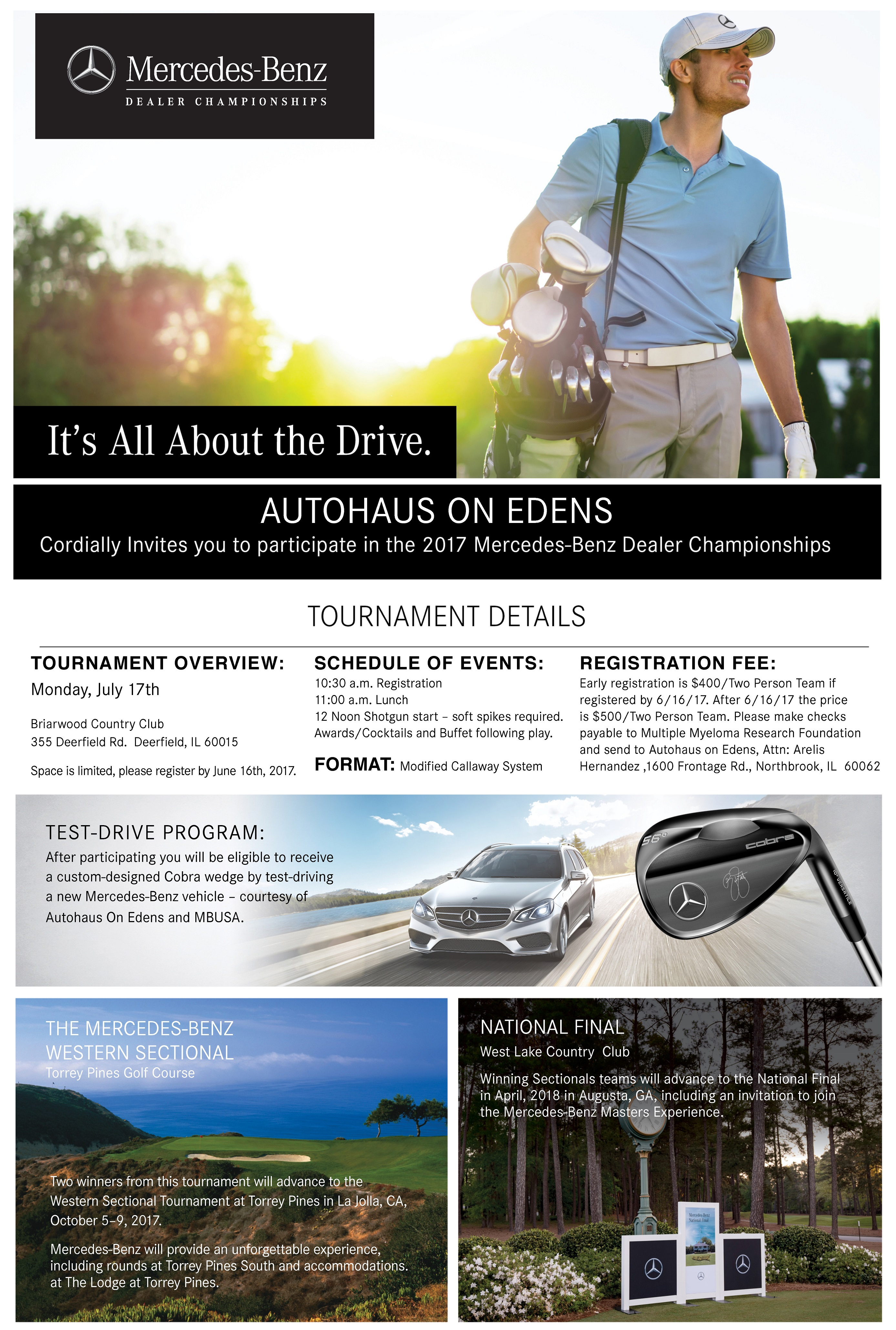 golf outing registration | autohaus on edens
